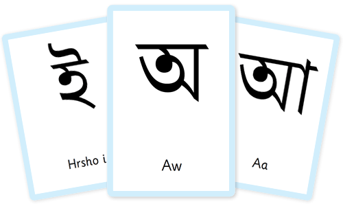 Bengali Alphabet flashcards
