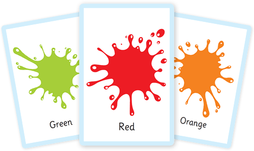 graphic about Colors Flashcards Printable known as No cost shade flashcards for youngsters - Totcards