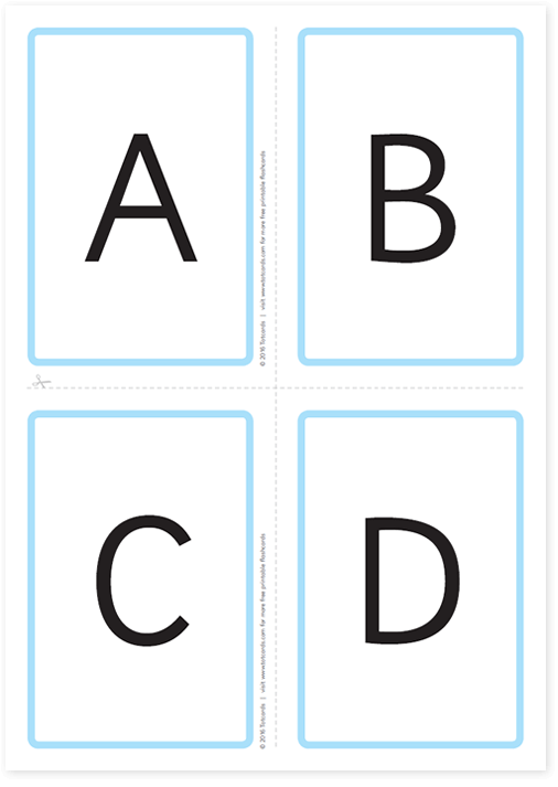 Free alphabet flashcards for kids   Totcards