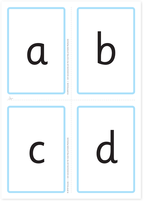 image relating to Alphabet Cards Printable named Free of charge alphabet flashcards for youngsters - Totcards