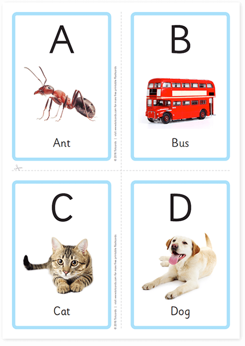 Kids printable flashcards