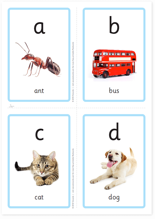 graphic about Free Printable Abc Flashcards titled Cost-free alphabet flashcards for youngsters - Totcards