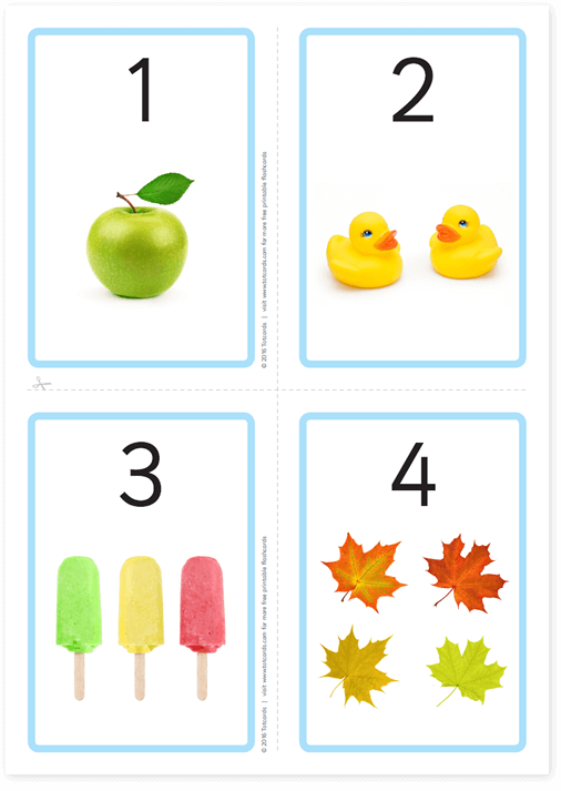 image about Printable Numbers Flashcards named No cost range flashcards for small children - Totcards