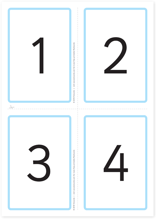 Free Number Flashcards For Kids Totcards - Flashcard template free