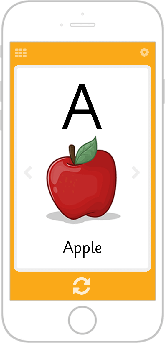 Kids flashcard app