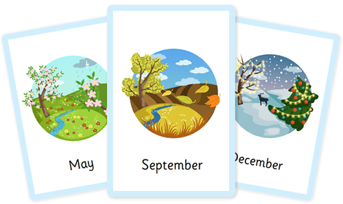 Months & seasons of the year flashcards
