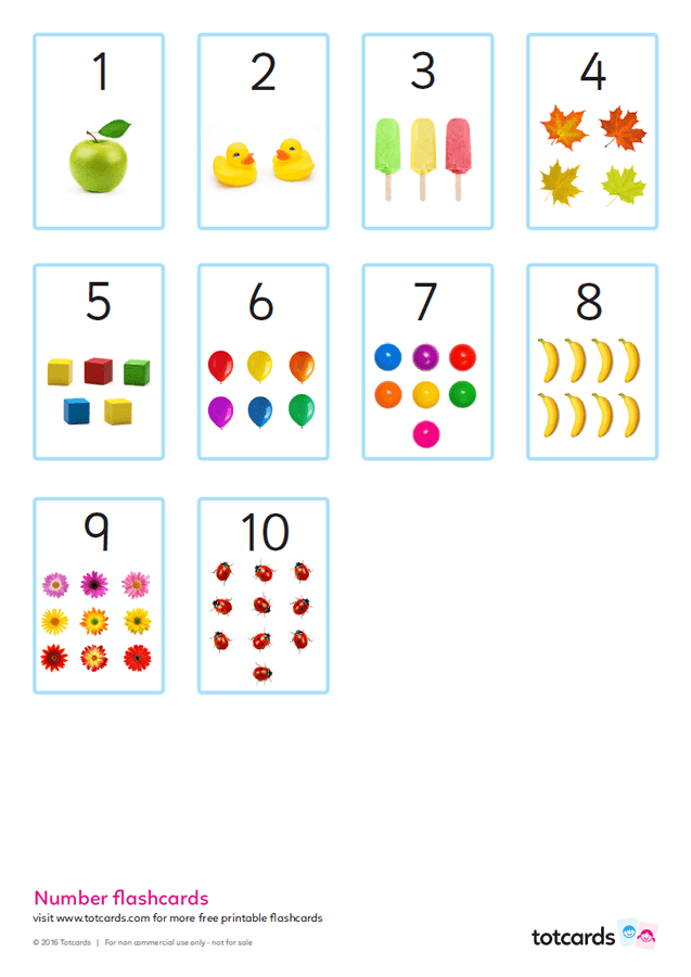 photo relating to Printable Numbers titled Absolutely free quantity flashcards for youngsters - Totcards