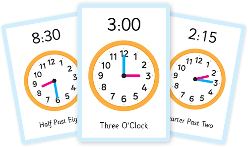 Tell the Time flashcards