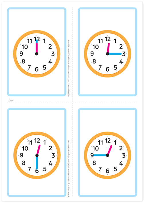 Free time flashcards
