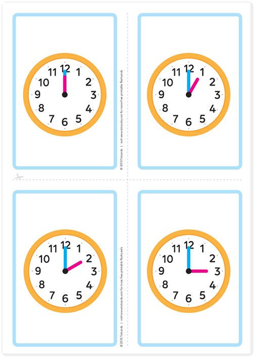 Free time hours flashcards
